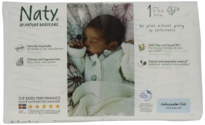 Nature Babycare Chlorine-Free ECO Diapers Size 1 (8-14lbs) (Pack of 4)