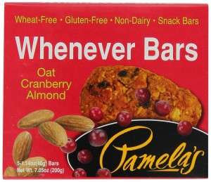 Pamela's Products Wheat Free and Gluten Free Whenever Bars Oat Cranberry Almond, 5 Count Box, 7.05-Ounce (Pack of 6)