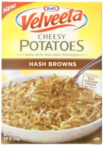 Velveeta Kraft Cheesy Potatoes Box, Hash Browns, 9.01 Ounce (Pack of 3)