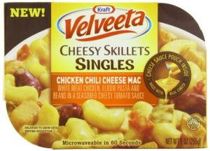 Velveeta Kraft Cheesy Skillets Singles Mac Tray, Chicken Chili Cheese, 9 Ounce