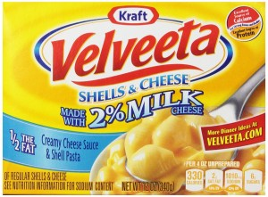 Velveeta Shells and Cheese with 2 Percent Milk, 12-Ounces (Pack of 6)