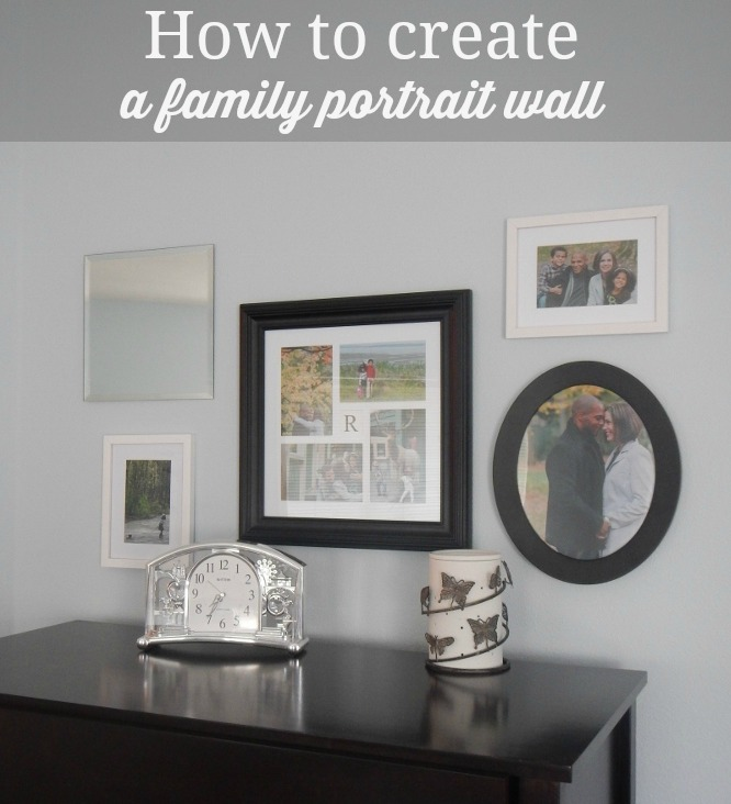 How to {easily} create a family portrait wall - avoid the frustration and multiple nail holes and get it done right the first time!