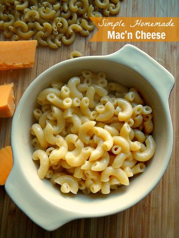 Simple Homemade Mac'n Cheese: Never buy the boxed stuff again!