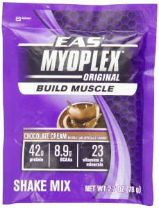 EAS Myoplex Original Nutrition Shake, Chocolate Cream, 2.7-Ounce Packets, 20 Servings