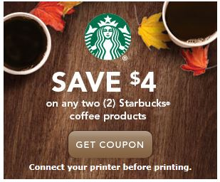 graphic regarding Starbucks Printable Coupon named Starbucks Espresso Items: $4/2 printable coupon! - The