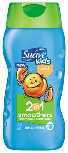 Suave Kids 2 In 1 Shampoo Conditioner, Peach, 12 Ounce
