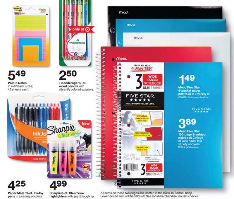 Target 8.10 school supplies