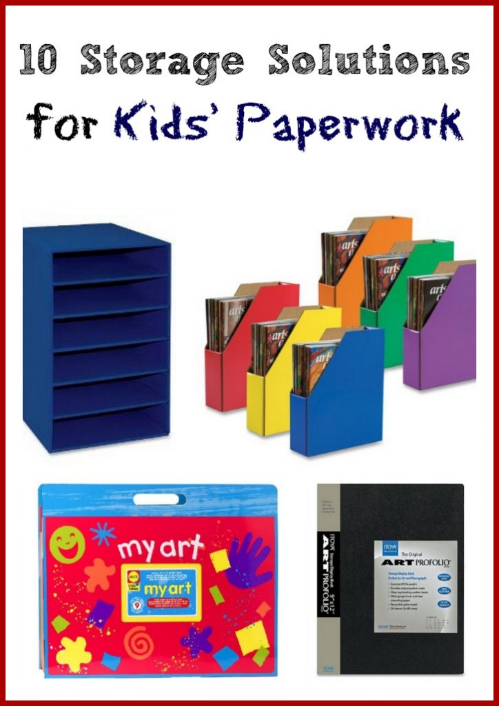 10 Storage Solutions for Kids' Paperwork #organization #storage