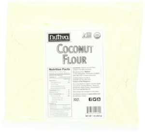 Nutiva Organic Coconut Flour, 16 Ounce (Pack of 6)