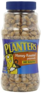 Planters Peanuts, Dry-Roasted, Honey Roasted, 16-Ounce Jars (Pack of 4)