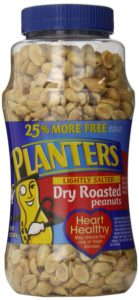 Planters Peanuts, Dry Roasted, Lightly Salted (Bonus Pack), 20-Ounce Packages (Pack of 2)