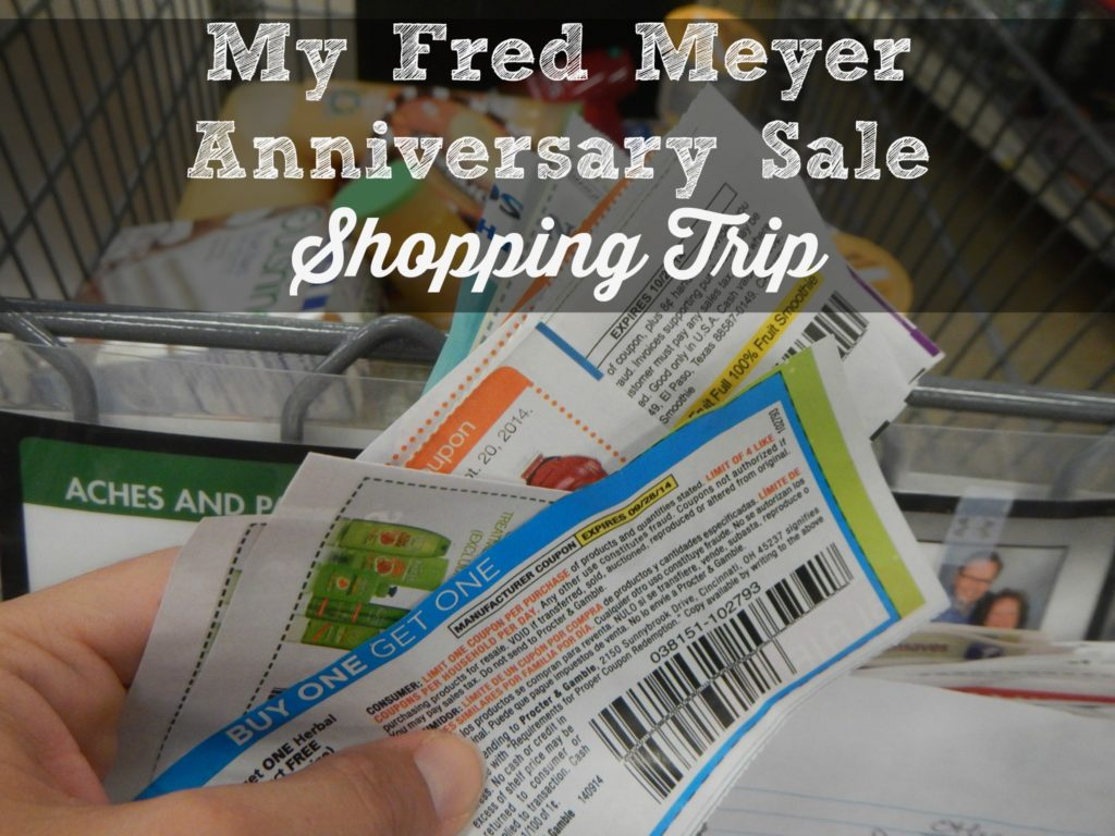 My Fred Meyer Anniversary Sale Shopping Trip