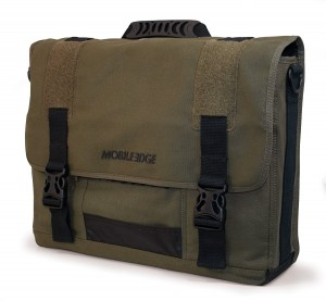 17.3-Inch Eco-Friendly Canvas Messenger Bag (Green)