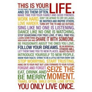 (24x36) This Is Your Life Motivational Quote Poster