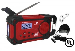 Ambient Weather WR-334A-U Emergency Solar Hand Crank Weather Alert Radio, Flashlight, Siren, Smart Phone Charger