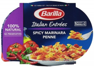 Barilla Spicy Marinara Penne Italian Entree, 9 Ounce Microwavable Bowls (Pack of 6)