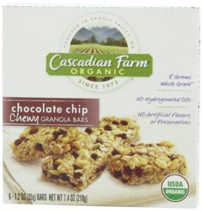 Cascadian Farm Organic Chewy Granola Bar, Chocolate Chip, 1.2 Ounce 6-Count Boxes, (Pack of 6)