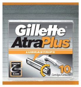 Gillette Atra Plus Lubra Strip Cataridge - 10 ea