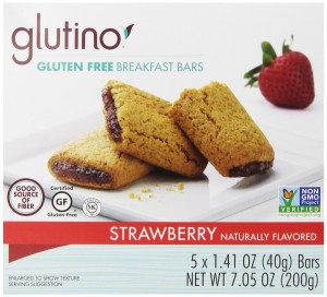 Glutino Gluten Free Breakfast Bars, Strawberry, 7.05 Ounce