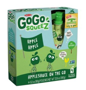 GoGo Squeez appleapple, Applesauce on the Go, 3.2-Ounce Pouches, Pack of 48