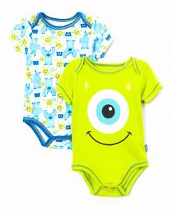 Green Monsters Inc Bodysuit Set - Infant