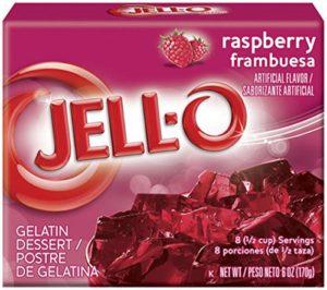 Jell-O Gelatin Dessert, Raspberry, 3-Ounce Boxes (Pack of 6)