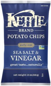 Kettle Sea Salt and Vinegar Chips, 13 Ounce (Pack of 10)
