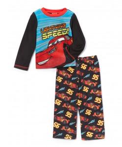 Red & Black Cars 'Lightning Speed' Pajama Set - Toddler