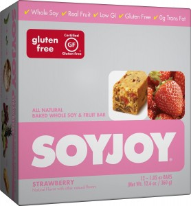SOYJOY Snack Bars, Strawberry, 1.05 ounces, 24 count (2 - 12 pack boxes)