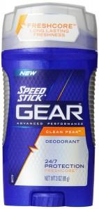 Speed Stick Gear Deodorant, Clean Peak, 3 Ounce