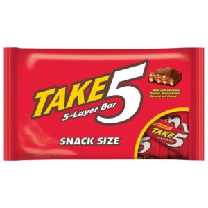 Take Five Candy Bars, Snack Size, 11.25-Ounce Packages (Pack of 6)