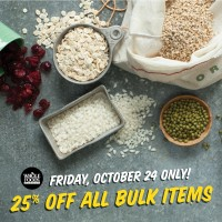 Whole Foods Market: 25% off All Bulk Items (Friday, 10/24 Only)
