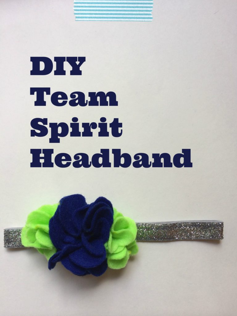 DIY Team Spirit Headband - customize with the colors of your favorite team!