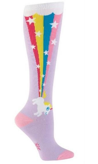 Knee High Unicorn & Rainbow Socks