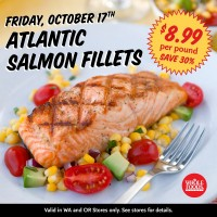 Whole Foods Market: $8.99/lb Salmon (10/17) + 25% off Body Care (10/18)
