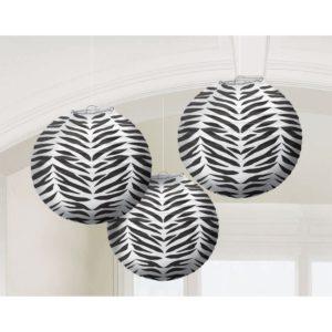 zebra paper lantersn