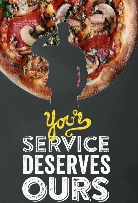 California Pizze Kitchen Veterans Day Menu