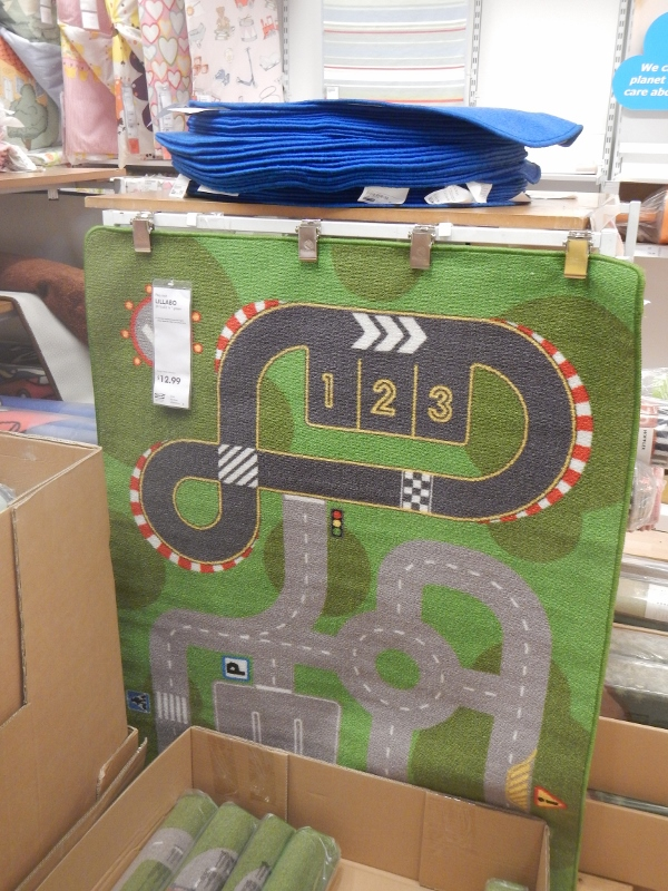 Race track rug at IKEA