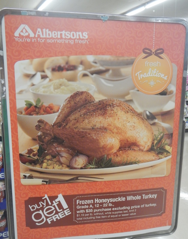Albertons Turkey Buy one, get one free promotion