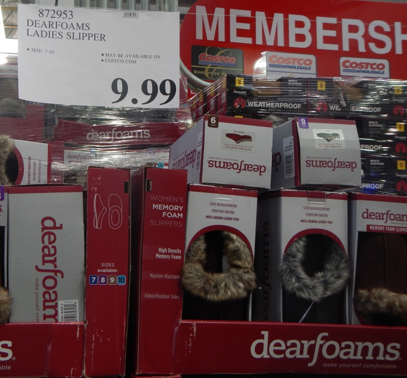 Dearfoams Slippers at Costco - $9.99