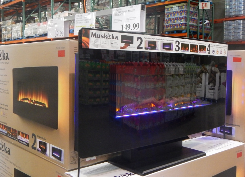 Costco Portable Tv : Costco gas fireplace great portable outdoor fireplaces