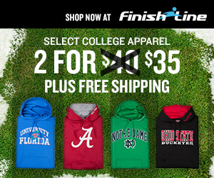 Finish Line college sweatshirts
