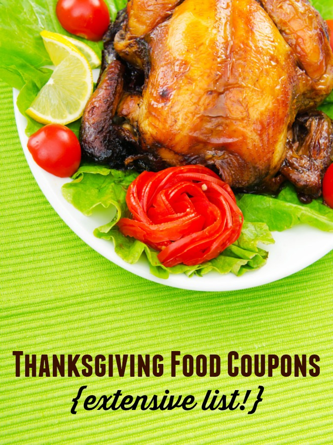 Thanksgiving Food Coupons {extensive list!} - to help you save money on your Thanksgiving dinner!