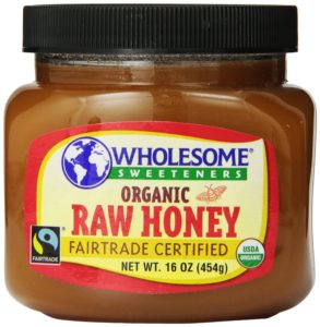 Wholesome Sweeteners Organic Fair Trade Raw Honey, 16 Ounce Jars (Pack of 3)