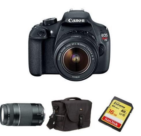 Canon Rebel - Amazon Black Friday Holiday Bundle