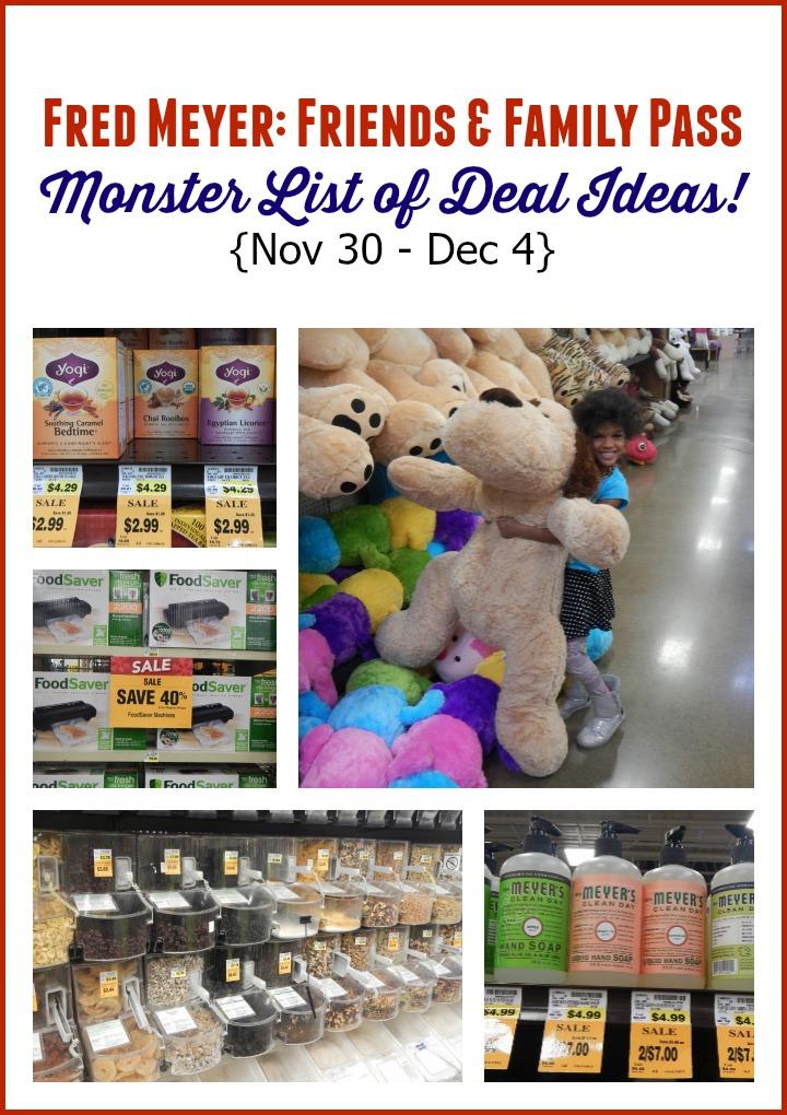 Fred Meyer: Friends & Family List Monster Post of Deal Ideas (Nov 30 - Dec 4)
