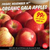 Whole Foods Market: Organic Gala Apples $0.99 on 11/14