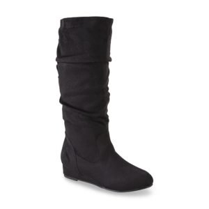 7726248a330b kisses Women s Too Sloucher Black Tall Boot