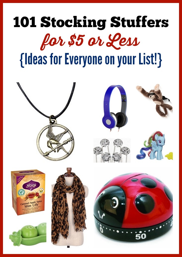 101 Stocking Stuffer Ideas For 5 Or Less