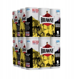 Brawny Paper Towels, 24 Regular Rolls, Pick-A-Size, White